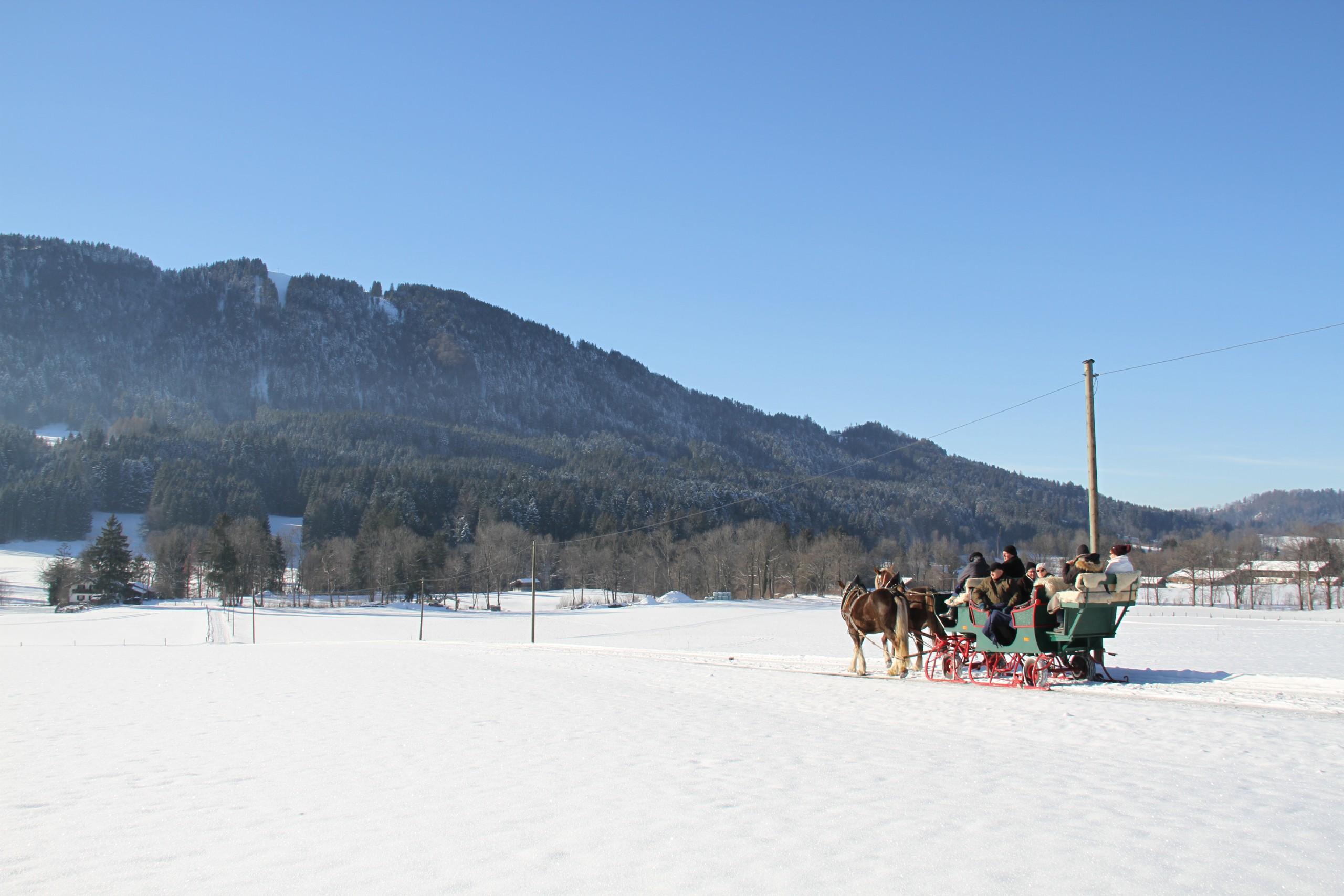 Pferdeschlittenfahrt in Bad Tölz