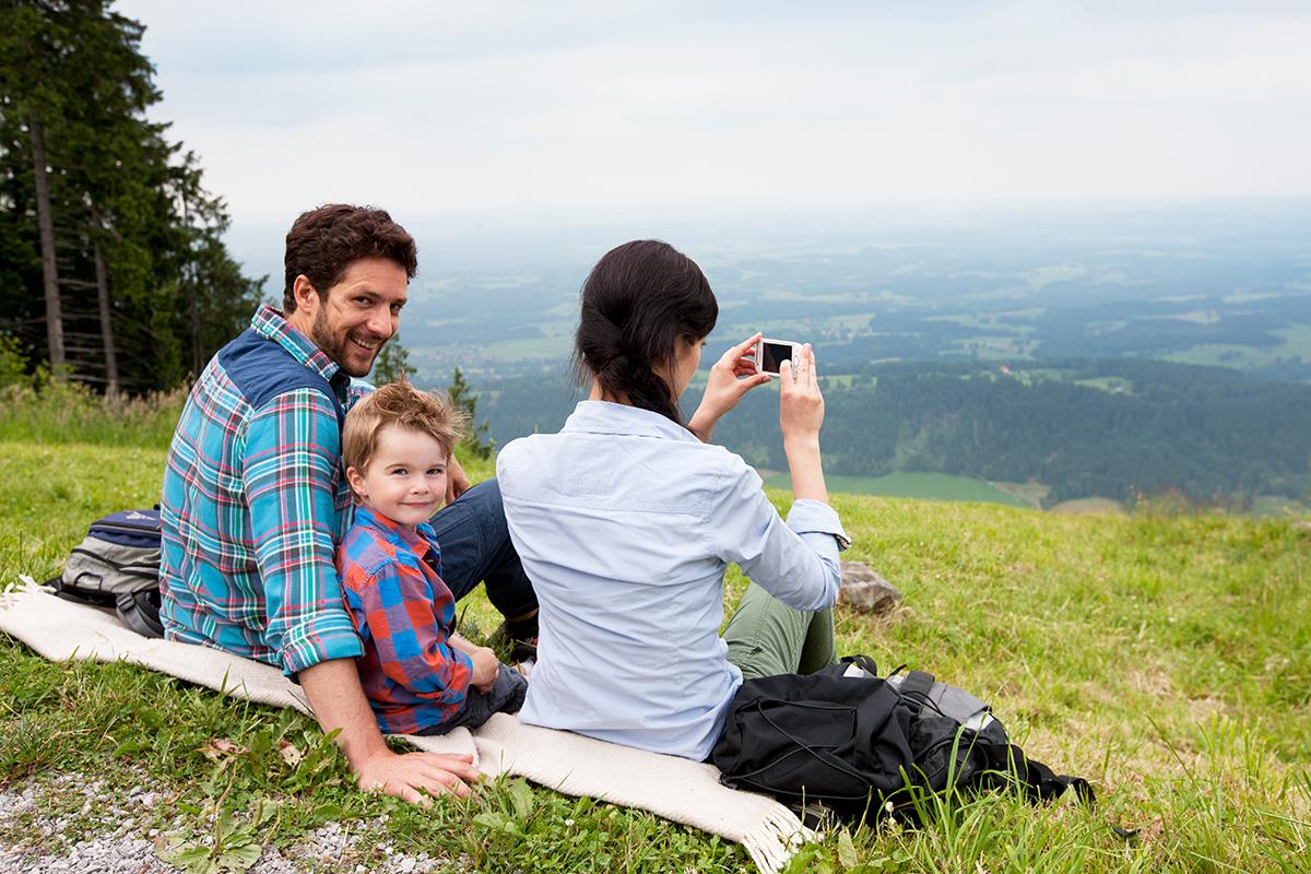 Familie auf dem Blomberg